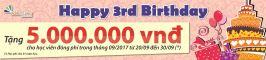 Happy 3th Birthday Walkie - Talkie Vietnam